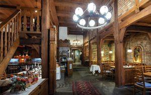Blick in das Restaurant Baumhove in Werne