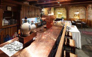 Blick auf die Theke im Restaurant Baumhove in Werne