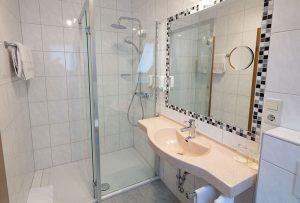 Badezimmer im Hotel-Restaurant Baumhove in Werne