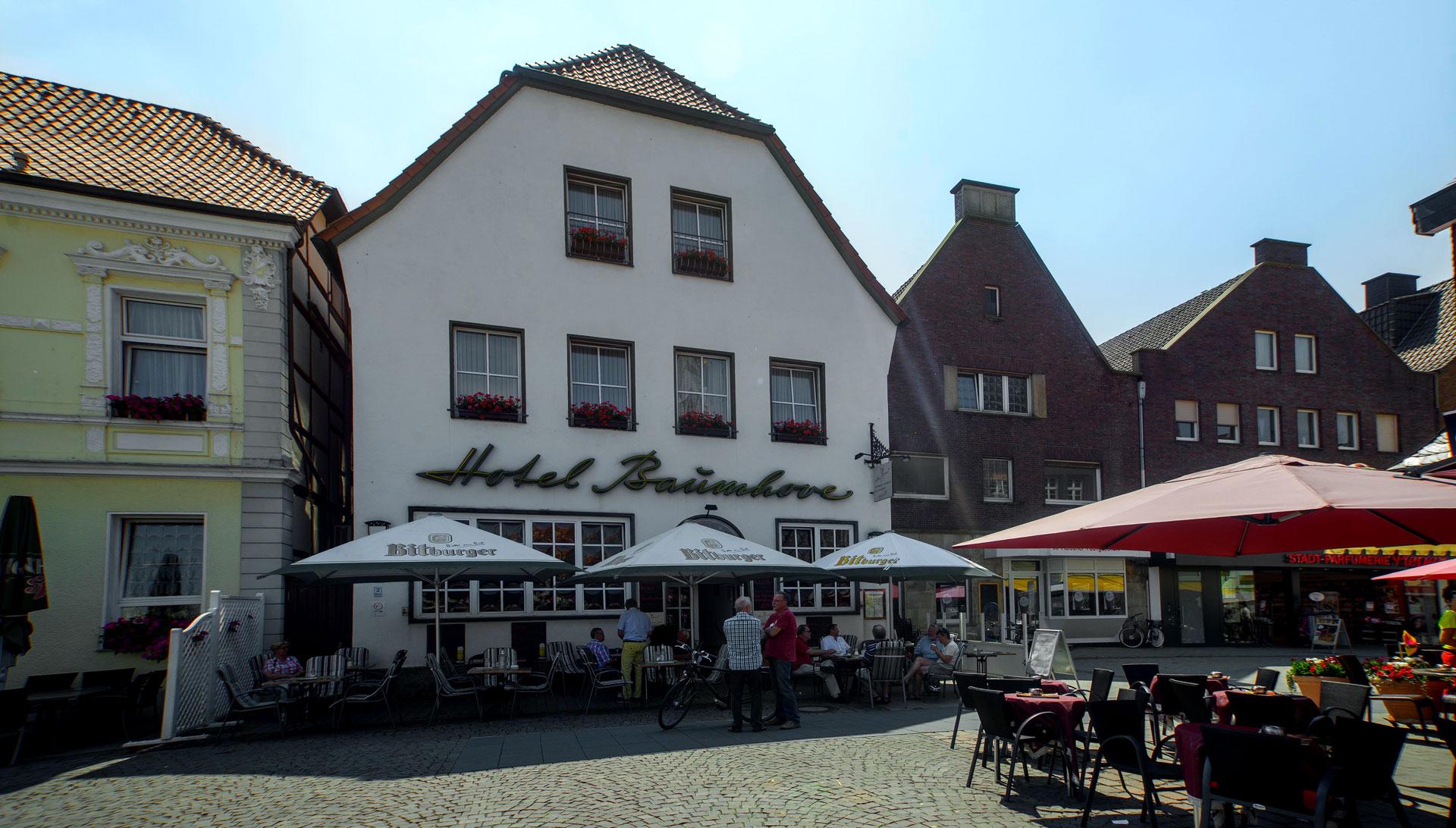 Außenansicht auf das Hotel-Restaurant Baumhove in Werne