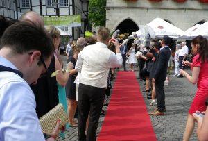 Sektempfang nach einer Hochzeit im Restaurant Baumhove in Werne