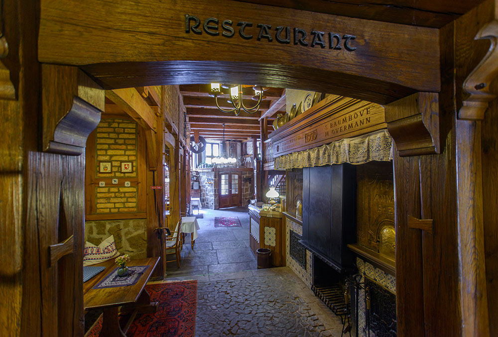 Eingang zum Restaurant Baumhove in Werne